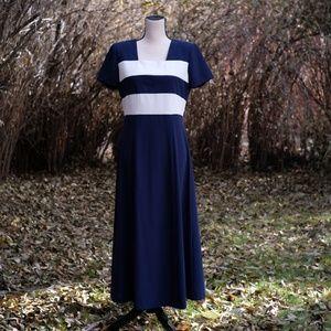 Vintage Brett Alixander Navy Blue & White Striped